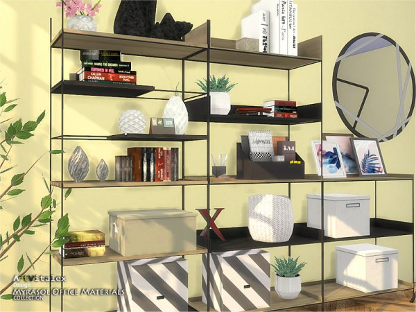 The Sims Resource: Myrasol Office Materials by ArtVitalex