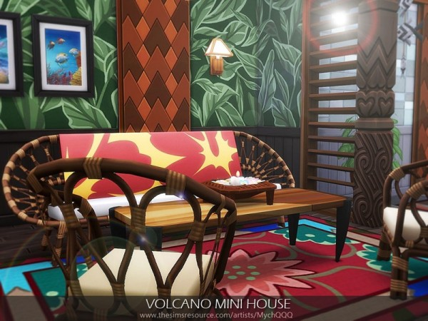 The Sims Resource: Volcano Mini House by MychQQQ