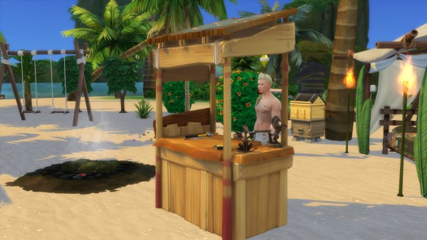 Mod The Sims: Castaways woodworking Table by Serinion