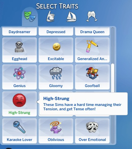 Mod The Sims: High Strung Trait by Lazurite