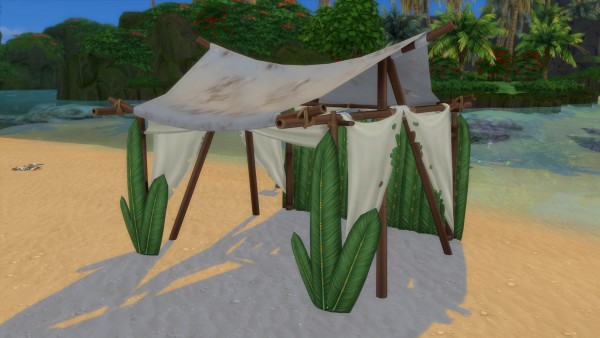 Mod The Sims: Wooden arbor of castaways by Serinion