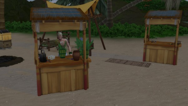 Mod The Sims: Castaways Flower Craft Table by Serinion