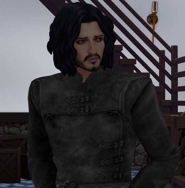 Mod The Sims: Game of Thrones Sword In The Darkness Jon Snow Nights Watch Outfit by HIM666