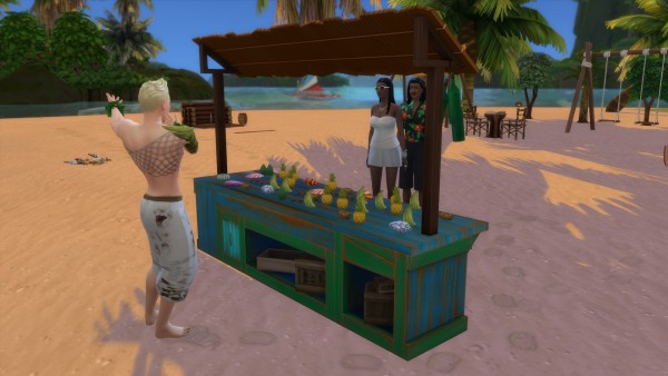 Mod The Sims: Sulani Craft Sales Table by Serinion