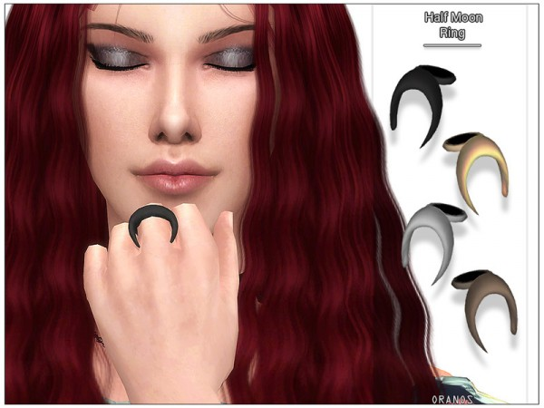 The Sims Resource: Half Moon Ring (Left) by OranosTR