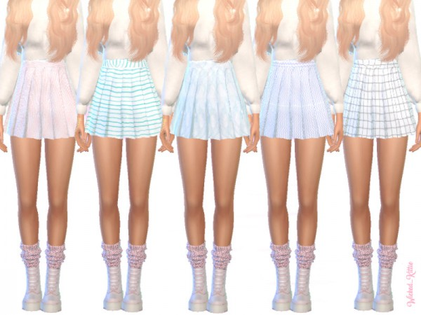The Sims Resource: Pastel Pleated Skirts by Wicked Kittie