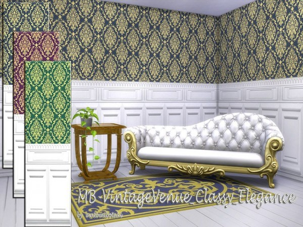 The Sims Resource: Vintage Venue Classy Elegance walls by matomibotaki