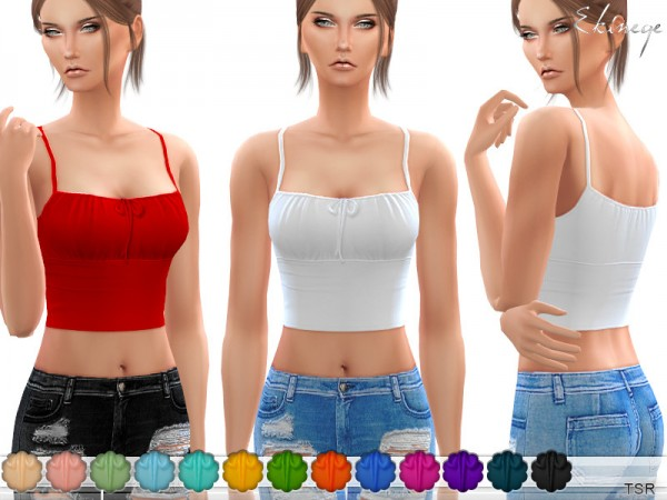 The Sims Resource: Self Tie Cropped Cami by ekinege
