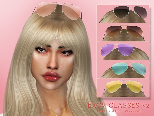 The Sims Resource: EXOV Glasses V2 by Pralinesims