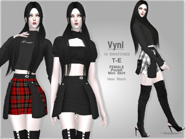 The Sims Resource: VYNI   Skirt by Helsoseira