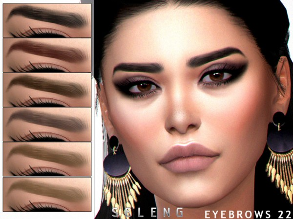 The Sims Resource: Eyebrows N22 by Seleng