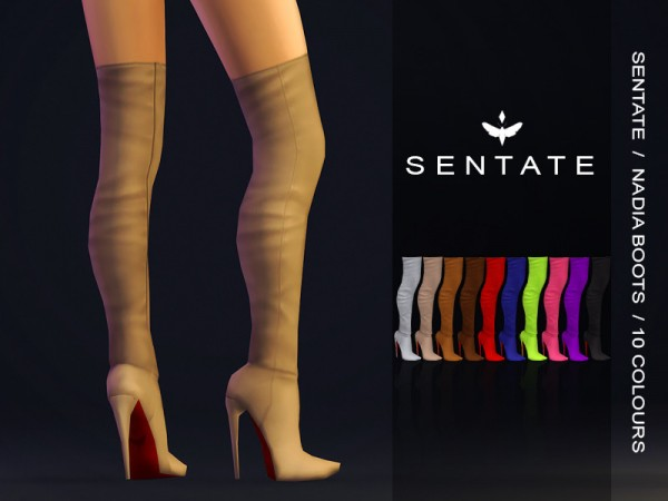 The Sims Resource: Nadia Boots by Sentate