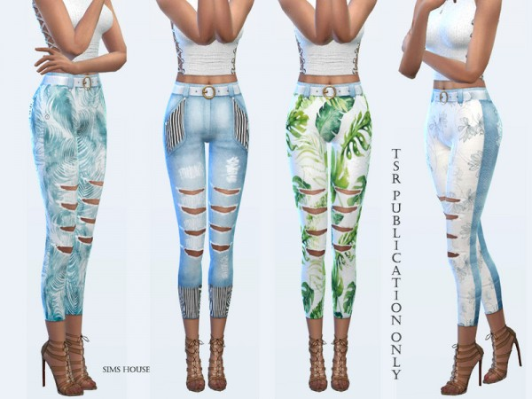 The Sims Resource: Tropics womens pants by Sims House