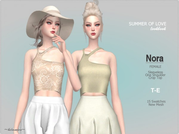 The Sims Resource: Nora   Crop Top by Helsoseira