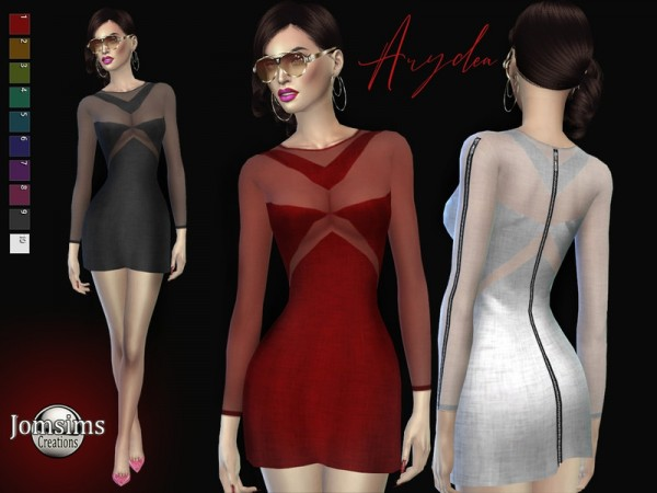 The Sims Resource: Arydea dress by jomsims