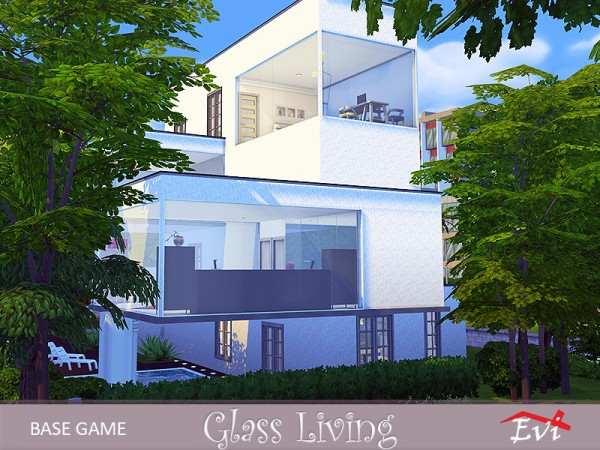 The Sims Resource: Glass living by evi