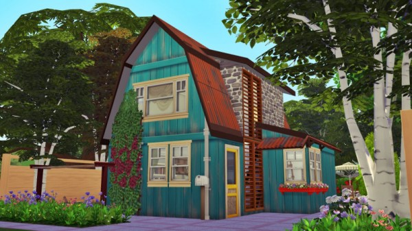 Sims 3 by Mulena: House in the village no CC