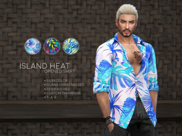 The Sims Resource: Island Heat shirt by sugar owl