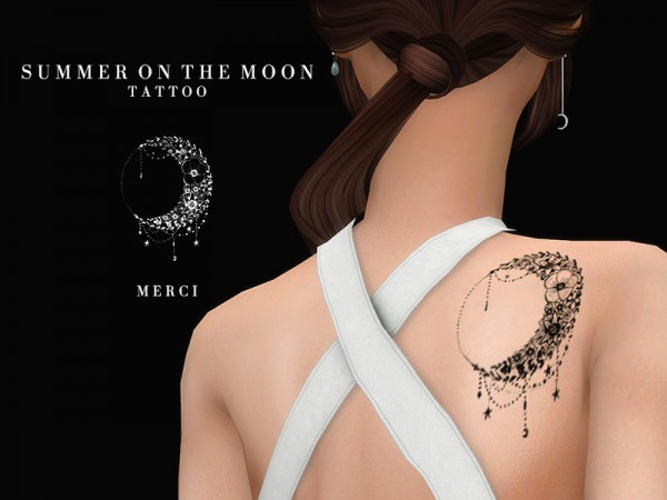 The Sims Resource: Summer On The Moon Tattoo by Merci