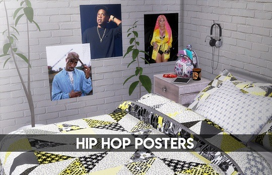 Descargas Sims: Hip Hop Posters