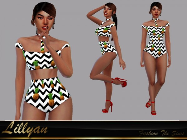 The Sims Resource: Swimsuit Polliana by LYLLYAN
