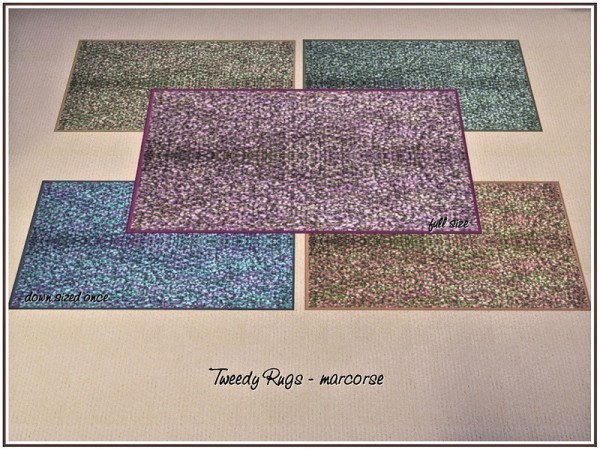 The Sims Resource: Tweedy Rugs by marcorse