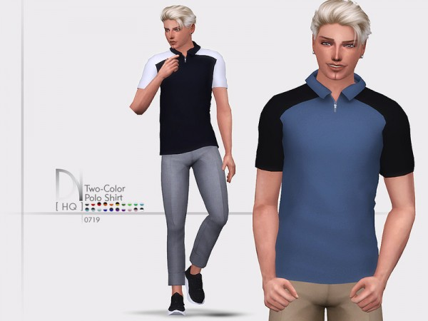 The Sims Resource: Two Color Polo Shirt by DarkNighTt