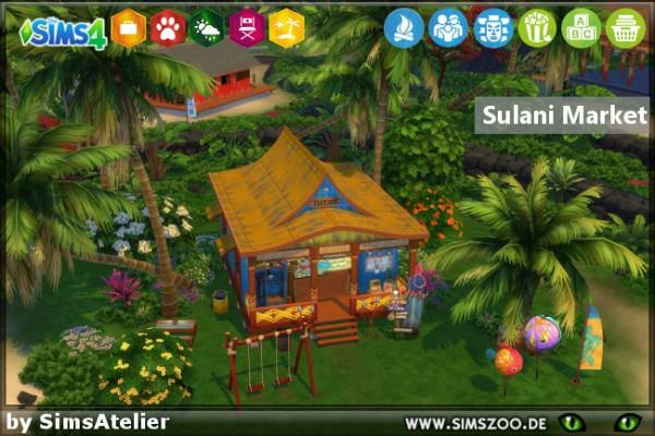 Blackys Sims 4 Zoo: Sulani Market by SimsAtelier