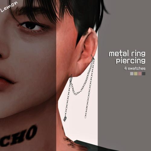 Lemon: Metal ring piercing