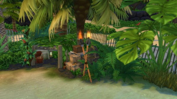 Mod The Sims: The Looters Cabin Off The Grid (No CC) by Caradriel