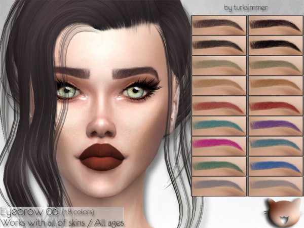 The Sims Resource: Eyebrow 06 by turksimmer