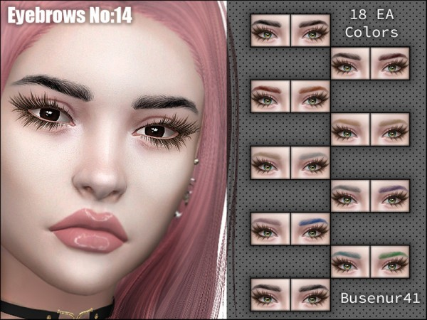 The Sims Resource: Eyebrows N14 by busenur41