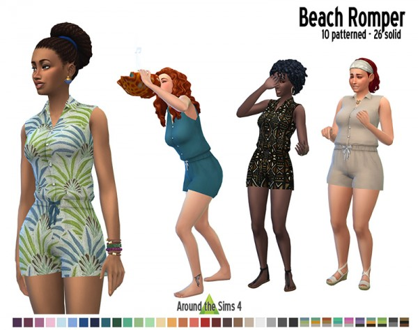 Around The Sims 4: Beach romper