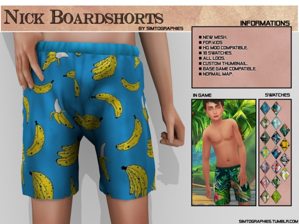 Simtographies: Nick Boardshorts