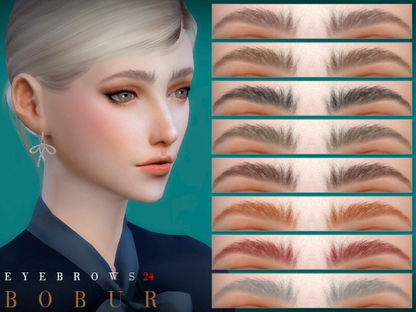 The Sims Resource: Eyebrows 24 by Bobur3