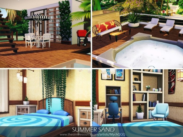 The Sims Resource: Summer Sand House by MychQQQ