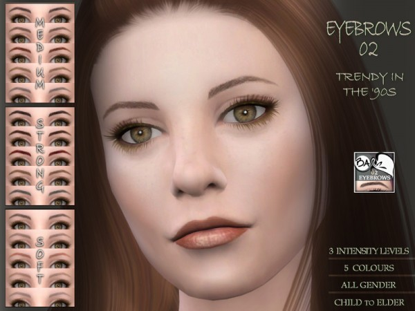The Sims Resource: Eyebrows 02 by BAkalia