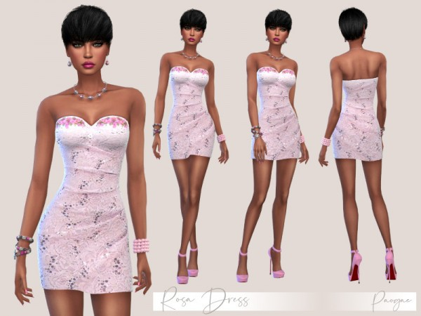 The Sims Resource: Rosa Dress by Paogae