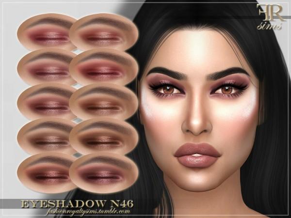 The Sims Resource: Eyeshadow N46 by FashionRoyaltySims