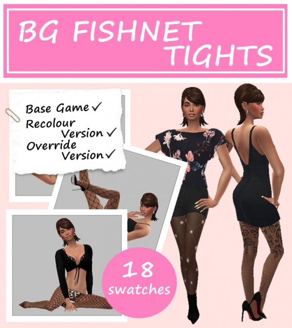 Sims 4 Sue: Fishnet tights