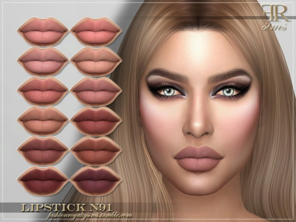 The Sims Resource: Lipstick N91 by FashionRoyaltySims