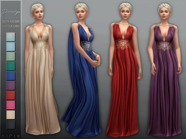 The Sims Resource: Daenerys Dress by Sifix