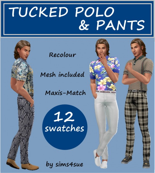 Sims 4 Sue: Tucked polo top and pants