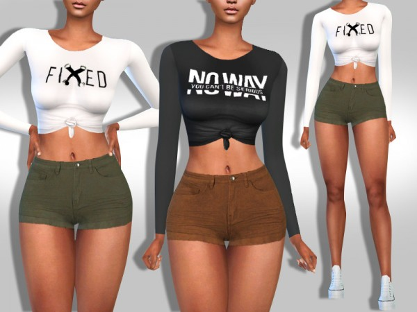 The Sims Resource: Super Mini Trendy Colours Shorts by Saliwa