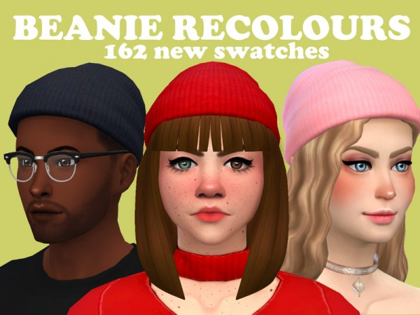 The Sims Resource: Beanie recolours by taffeite
