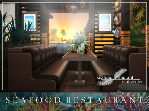 The Sims Resource: Seafood Restaurant by Pralinesims