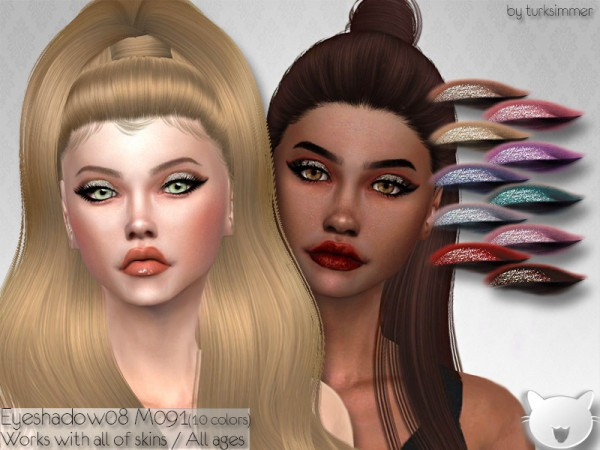 The Sims Resource: Eyeshadow 08 M091 by turksimmer