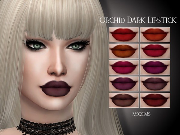 MSQ Sims: Orchid Dark Lipstick