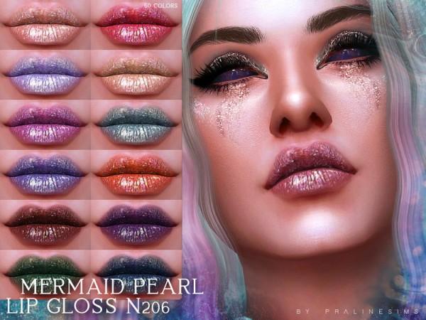 The Sims Resource: Mermaid Pearl Lip Gloss N206 by Pralinesims
