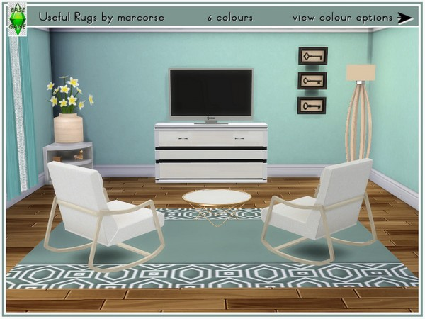 The Sims Resource: Useful Rugs by marcorse
